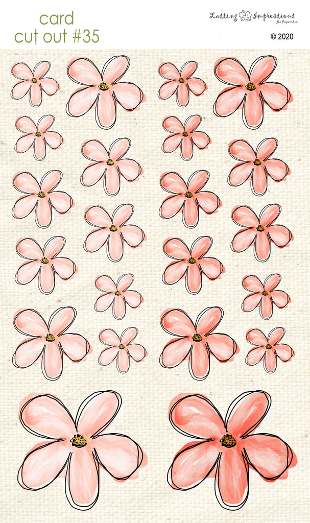 *******CCO35 - Card Cut Out #35 - Peaches 'n Cream Flowers