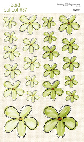 *******CCO37 - Card Cut Out #37 - Sweet Pea Flowers