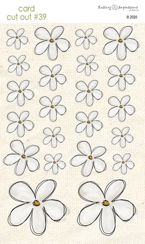*******CCO39 - Card Cut Out #39 - Powdered Sugar Flowers