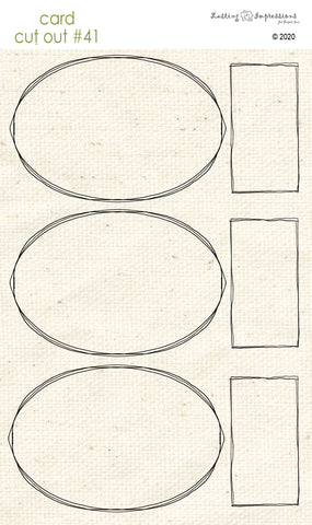 ******CCO41 - Card Cut Out #41 - Oval Frames