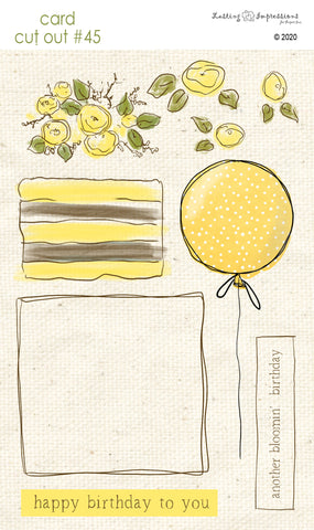 ******CCO45 - Card Cut Out #45 - Birthday Cake or Present - Daylily