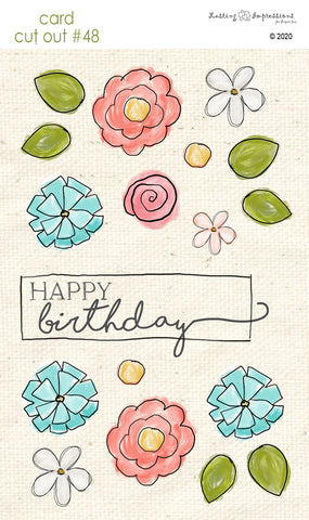 ******CCO48 - Card Cut Out #48 - Birthday Flowers