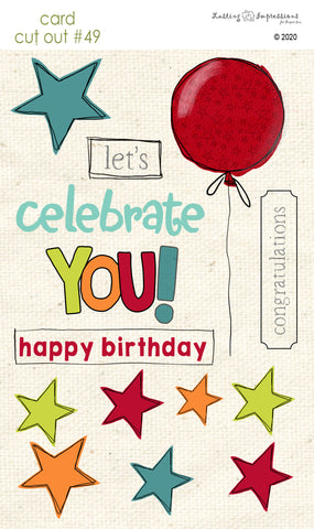 ******CCO49 - Card Cut Out #49 - Celebrate - Red