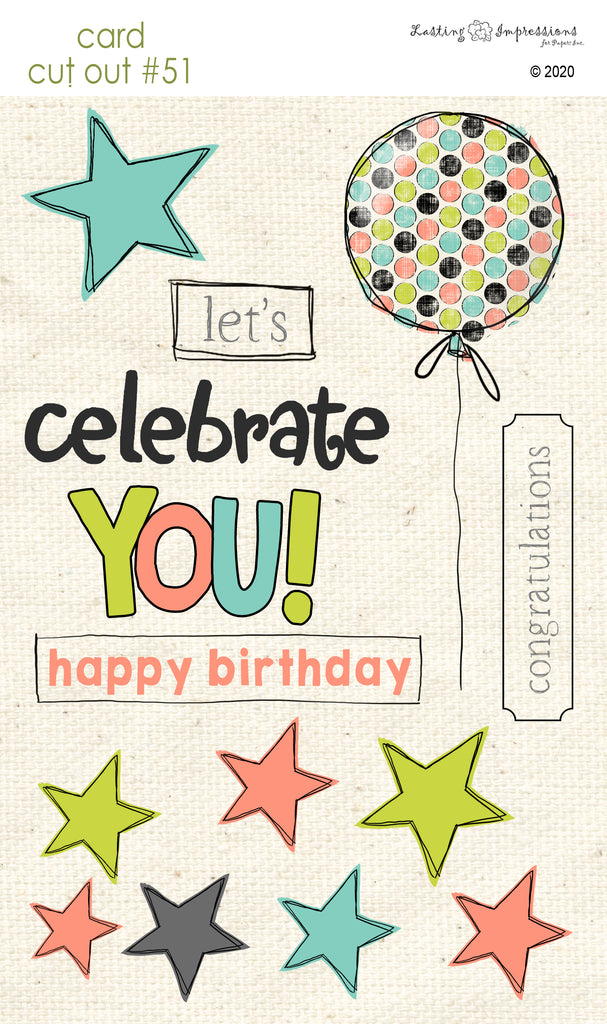 ******CCO51 - Card Cut Out #51 - Celebrate - Multi