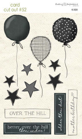 ******CCO52 - Card Cut Out #52 - Balloons - Black