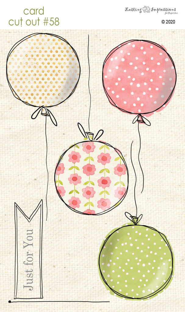 ******CCO58 - Card Cut Out #58 - Balloons - Large