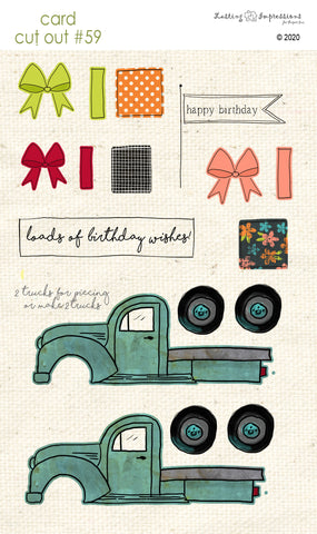 ******CCO59 - Card Cut Out #59 - Truck - Birthday