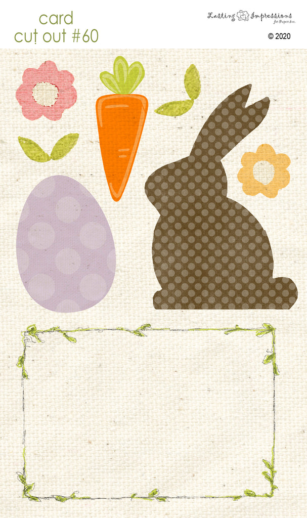 *******CCO60 - Card Cut Out #60 - Chocolate Bunny
