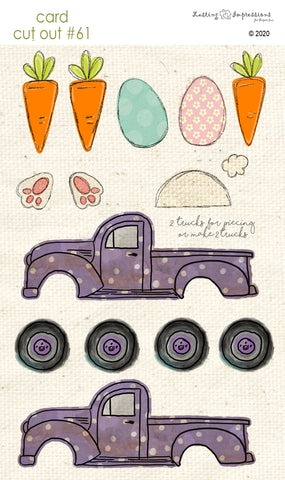 *******CCO61 - Card Cut Out #61 - Easter Truck