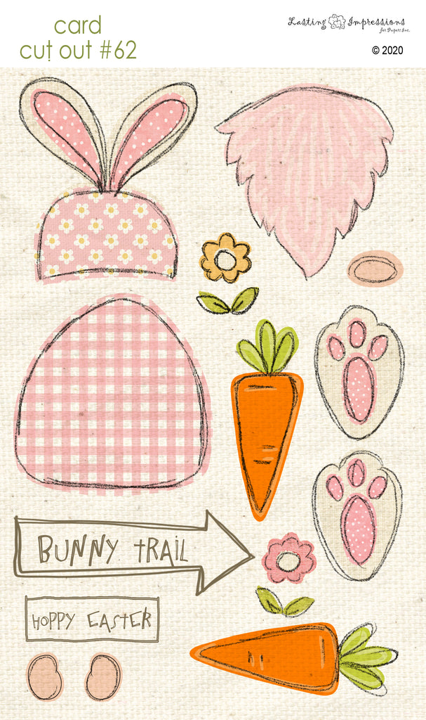 *******CCO62 - Card Cut Out #62 - Bunny Gnome