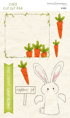 *******CCO64 - Card Cut Out #64 - Bunny Hugs