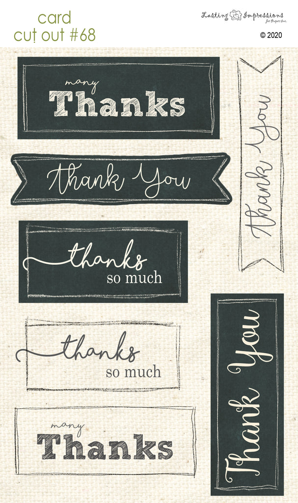 *******CCO68 - Card Cut Out #68 - Many Thanks