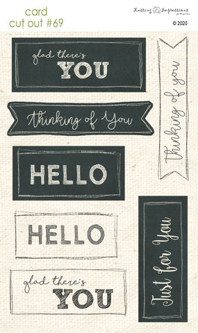 *******CCO69 - Card Cut Out #69 - Thinking of You