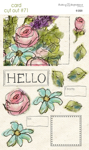 ********CCO71 - Card Cut Out #71 - Hello Floral