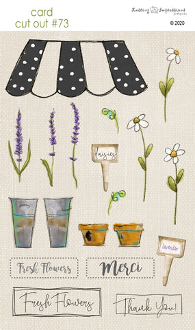 ********CCO73 - Card Cut Out #73 - Flower Stand