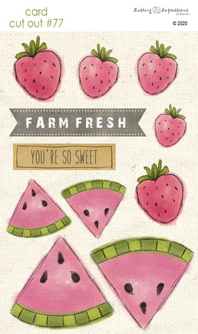 ********CCO77 - Card Cut Out #77 - Watermelon & Strawberries