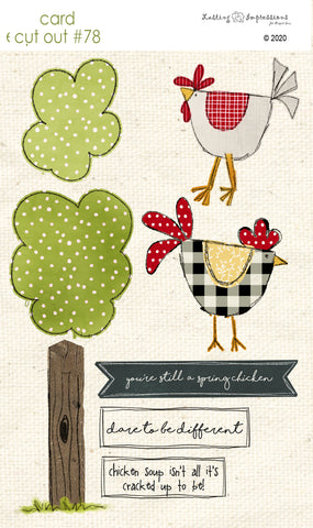 ********CCO78 - Card Cut Out #78 - Country Chickens
