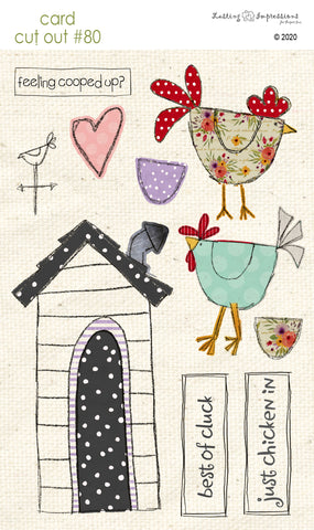 ********CCO80 - Card Cut Out #80 - Farmhouse Chickens