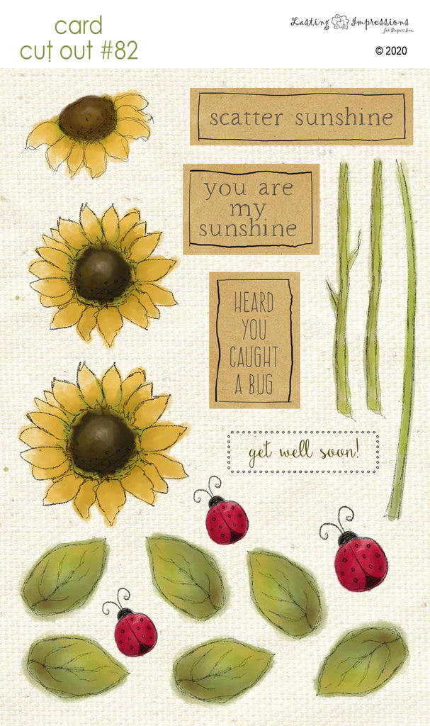 ********CCO82 - Card Cut Out #82 - Sunflowers & Ladybugs