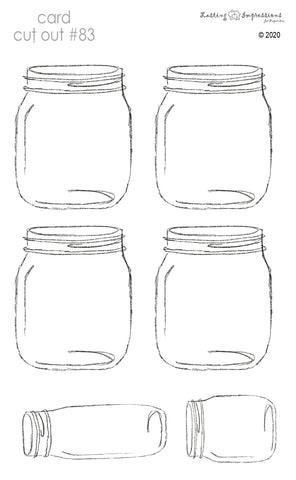 ********CCO83 - Card Cut Out #83 - Mason Jar/Bottle on Vellum