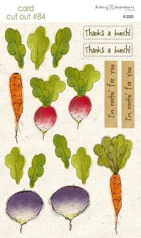 ********CCO84 - Card Cut Out #84 - Farm Fresh Veggies