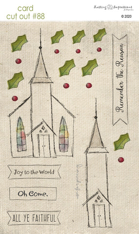 ********CCO88 - Card Cut Out #88 - Little Snowy Church