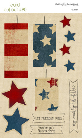 ********CCO90 - Card Cut Out #90 - Firecrackers