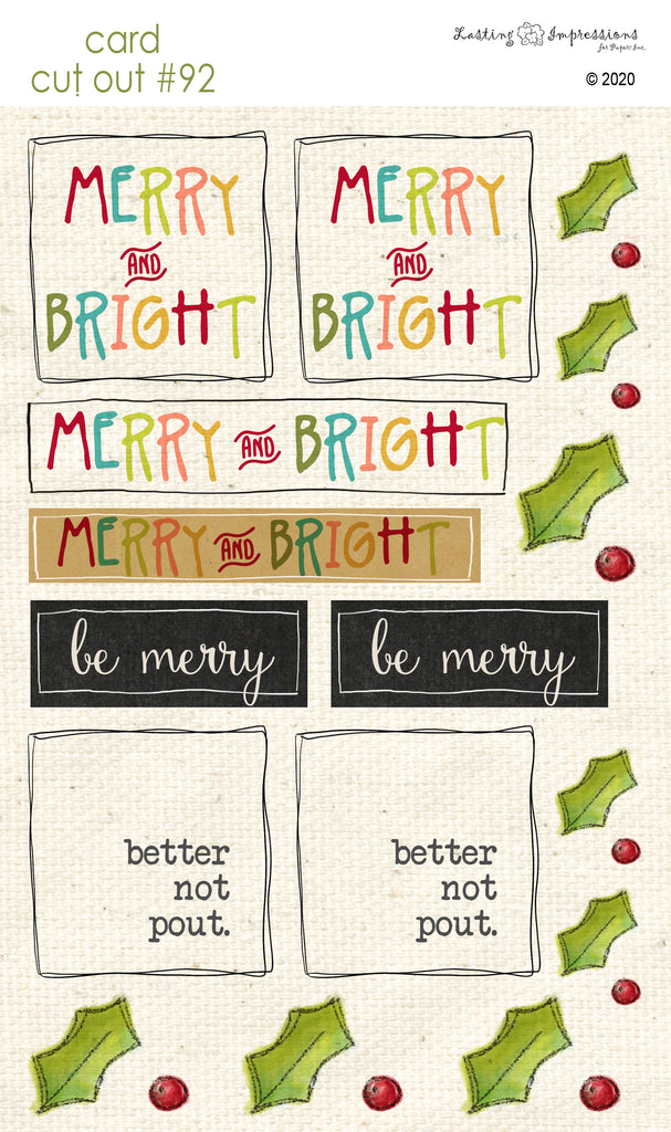 ********CCO92 - Card Cut Out #92 - Merry & Bright
