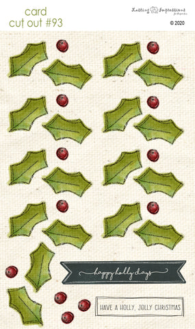 ********CCO93 - Card Cut Out #93 - Holly & Berries