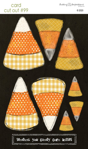 ********CCO99 - Card Cut Out #99 Candy Corn on Black Canvas