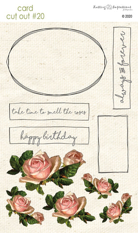 ****CCO20 - Card Cut Out #20 Antique Rose