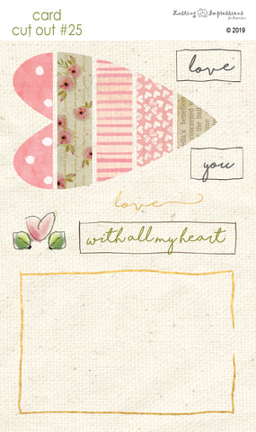****CCO25 - Card Cut Out #25 - Sweet Pink Heart Piecing
