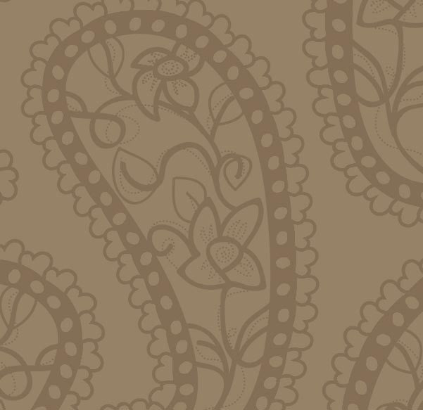 CHOCOLATE PAISLEY 12x12 - 3 Sheets