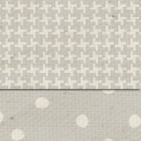 ******Cobblestone Martha Dots & Tweed Double Sided Cardstock