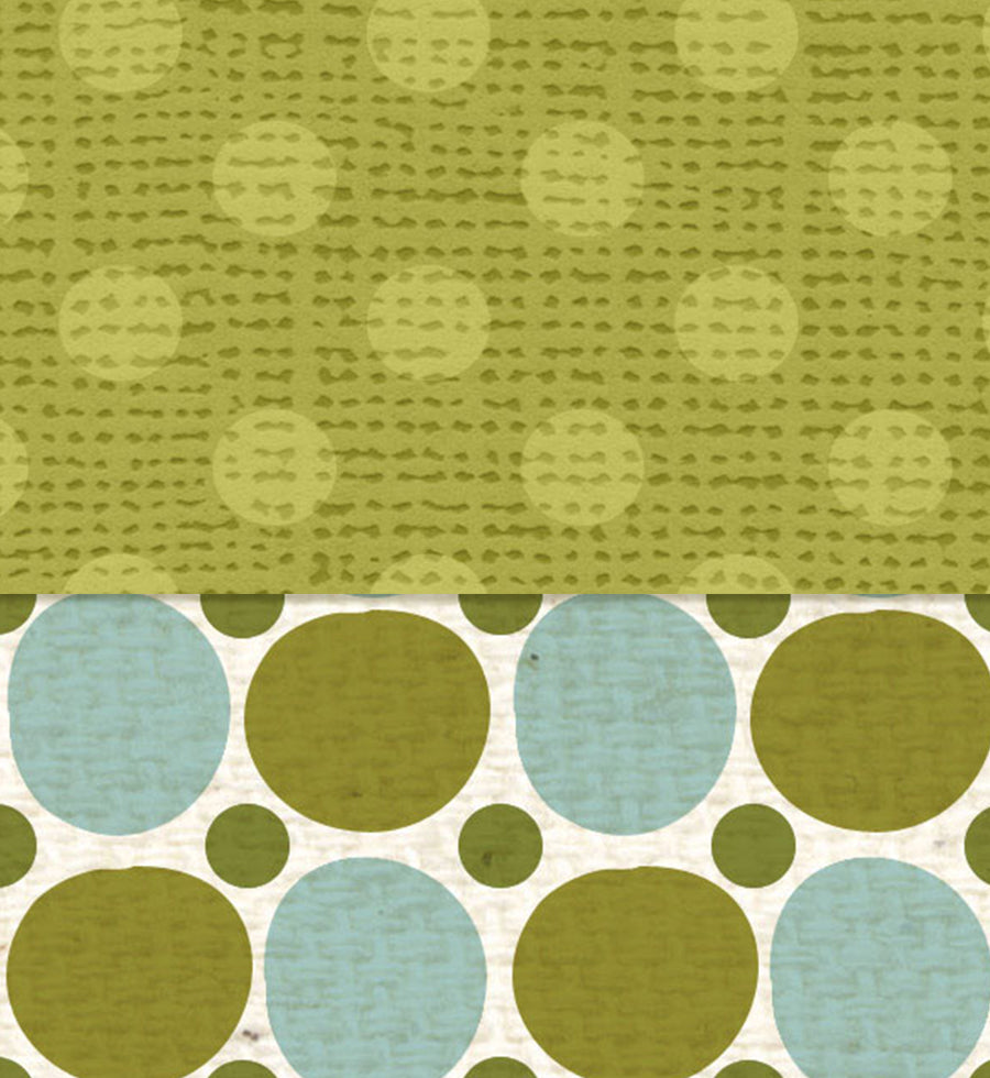 ******** Inch Worm Polka Dot Double Sided Paper