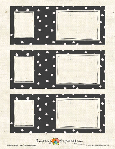 ********Envelope Wrap - Black Watercolor Dots