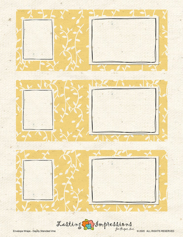 ********Envelope Wrap - Daylily Stenciled Vines
