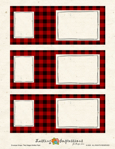 ********Envelope Wrap - Red Wagon Buffalo Plaid