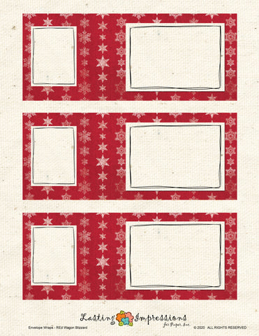 ********Envelope Wrap - Lady Bug Red Blizzard