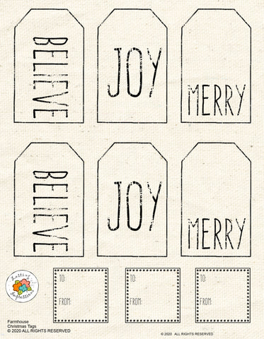 ********Farmhouse Christmas Tags