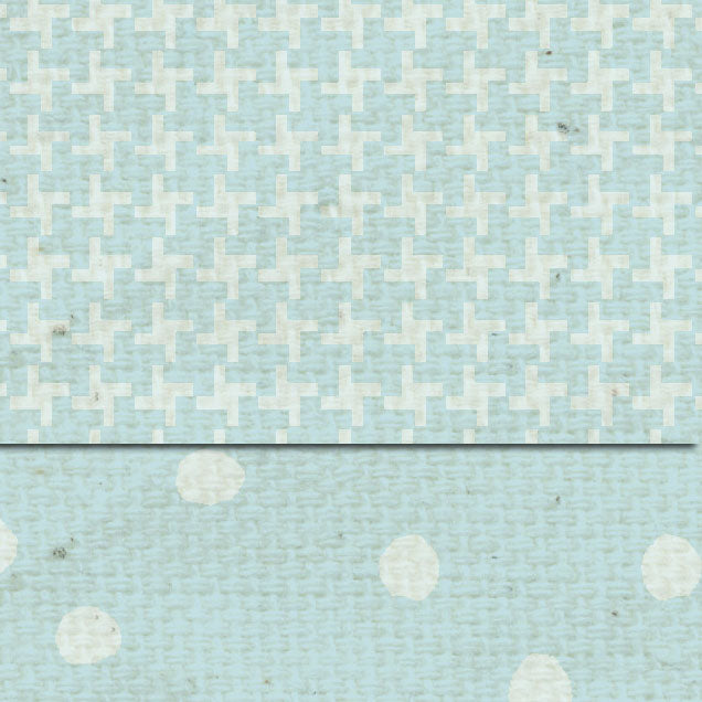 *DSFBMT French Blue Martha Dots & Tweed Double Sided Cardstock