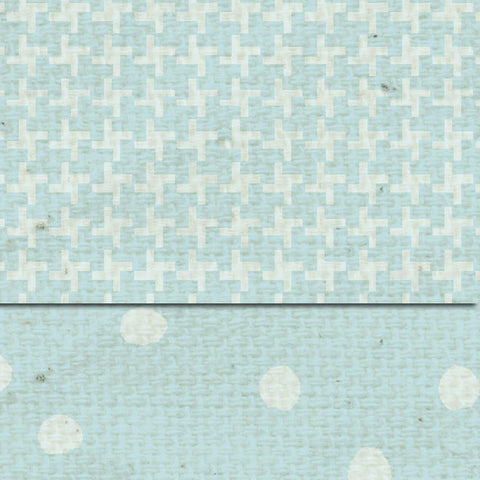 ***French Blue Martha Dots & Tweed Double Sided Cardstock