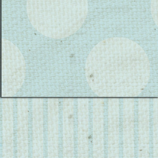 *DSFBDS French Blue Dots & Stripes Double Sided Cardstock