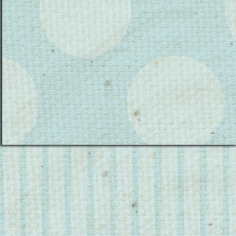 ***French Blue Dots & Stripes Double Sided Cardstock