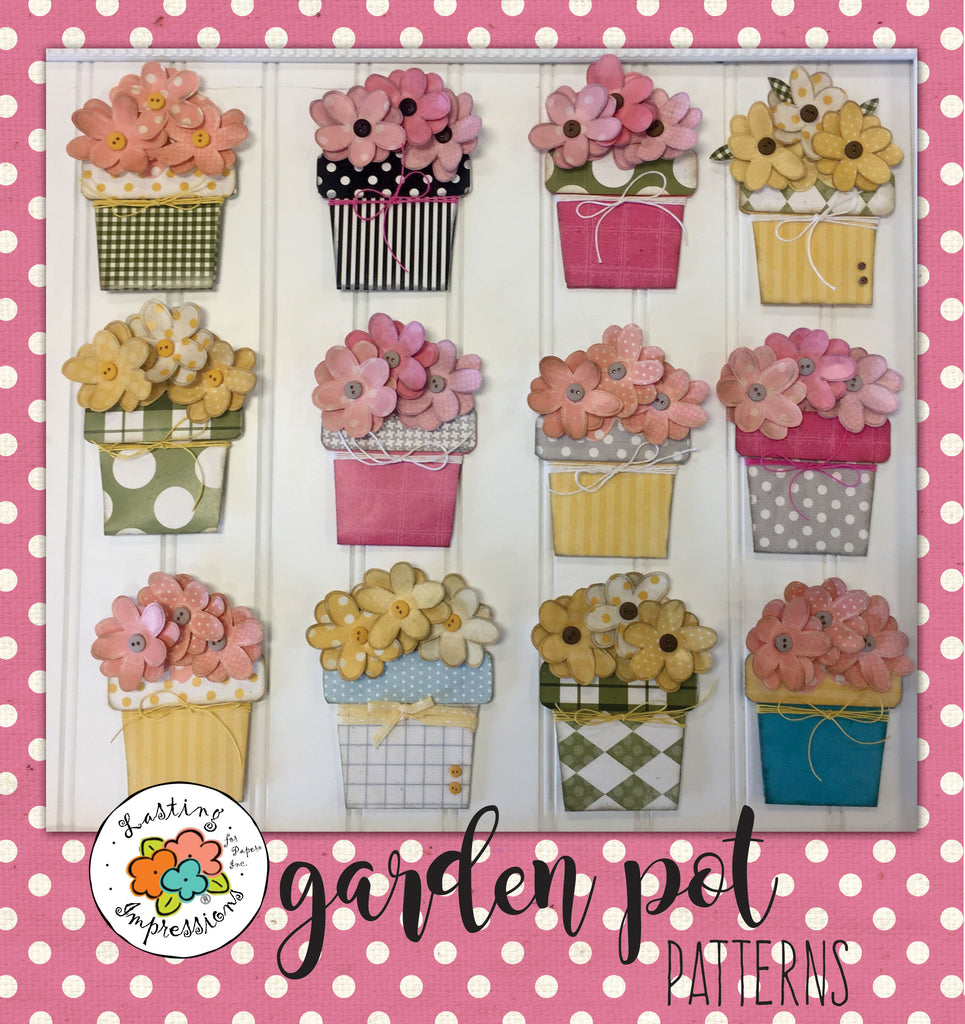 Garden Pot Patterns - Download Only