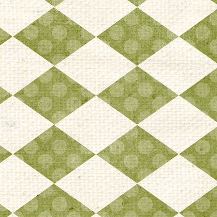 *Garden Moss Argyle 8 1/2 x 11 - One Sheet