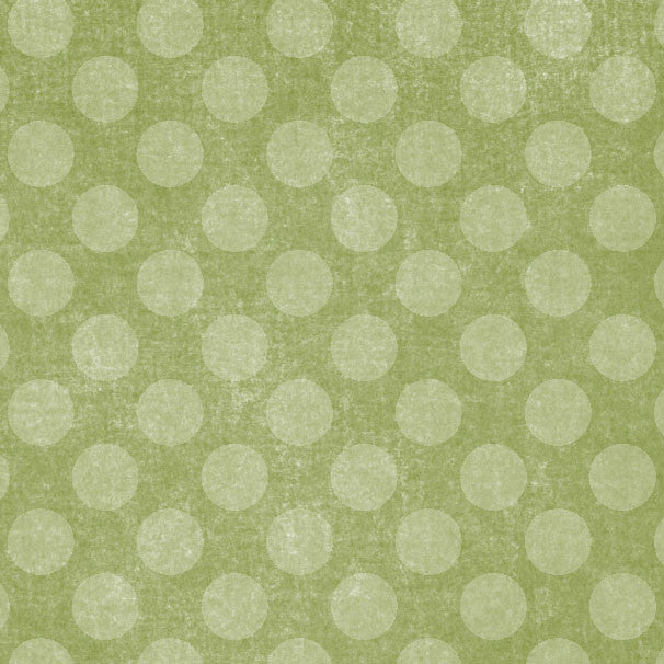 *GMGCD8 - Garden Moss Green Chalky Dots 8 1/2 x 11 - One Sheet