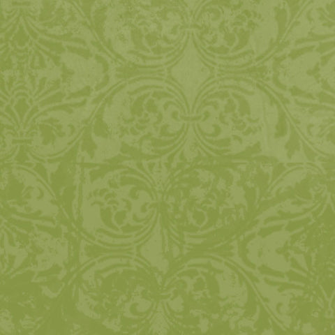 *GMGDM8 - Garden Moss Green Damask 8 1/2 x 11 - One Sheet