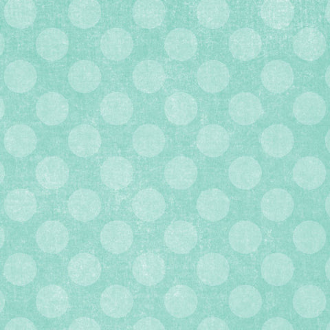 *GBACD8 - Gentle Breeze Aqua Chalky Dots 8 1/2 x 11 - One Sheet