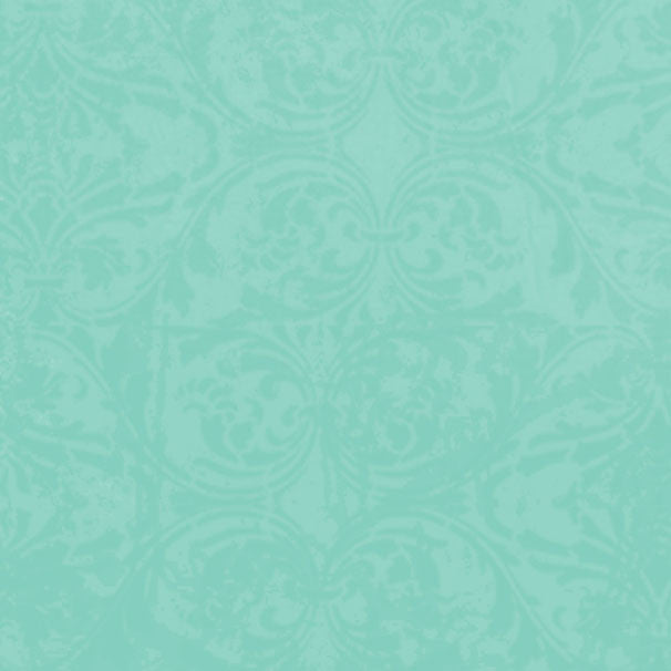 *GBADM8 - Gentle Breeze Aqua Damask 8 1/2 x 11 - One Sheet